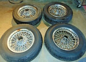 Mgb 60 Spoke Wire Wheel Set With Tires nice Shape s