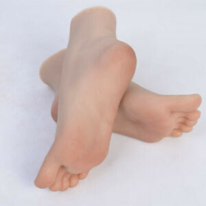 One Left Or Right Lifelike Female Vein Feet Shoes Displays Foot Model Mannequin