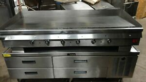 Wolf Thermostatically Controlled Flat Top Grill On Refrigerated Chef Base