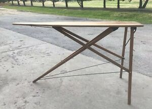 Ironing Iron Board Antique 1900 1949 Wood Solid Sturdy Primitive