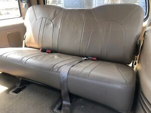1997 2002 Ford Expedition Oem Rear Third 3rd Row Leather Seat Beige Tan 98 99 00