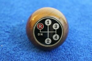 Wooden 4 Speed Wood Gear Shift Knob Handle Accessory Mopar Jeep Olds Ford Amc