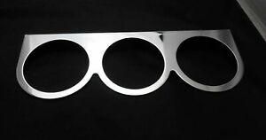 Sintage Nos 9 1 2 Chrome Triple Gauge Panel With 2 5 8 Gauge Fitment By Sun