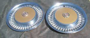 1973 1978 Cadillac Deville Fleetwood Hubcaps Very Nice Set Color Wheel Covers