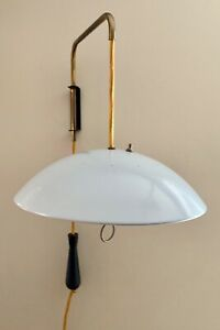Vtg Modern Eames Era Sputnik Atomic Pull Down Wall Hanging Reading Lamp A40