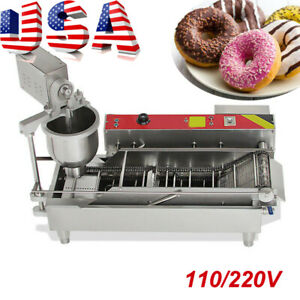 Hot 110v Electric Automatic Donut Machine Commercial Doughnut Fryer usa Shipping