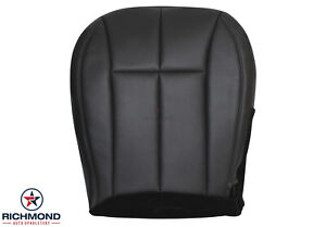 2001 Jeep Grand Cherokee Limited Driver Side Bottom Leather Seat Cover Dark Gray