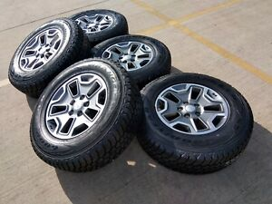 17 Jeep Wrangler Rubicon Oem Wheels Rims Tires 2016 2017 2018 2019 9118