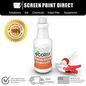 Ecotex Emulsion Remover Industrial Screen Printing Chemicals 1 Pint 16 Oz