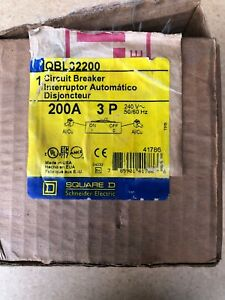 Square D Qbl32200 200 Amp 240v 3 Pole Circuit Breaker New In Box