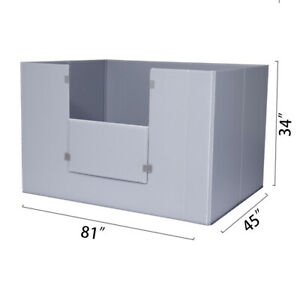 Toolots 81 X 45 X 34 Plastic Pallet Pack Container Board