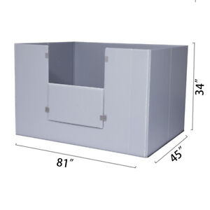81 X 45 X 34 Plastic Pallet Pack Container Board