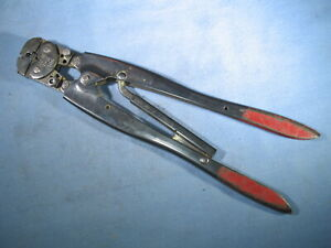 Amp No 47386 Hand Crimping Tool For 22 16 1 2 Pidg