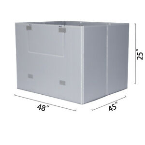 Toolots 48 X 45 X 25 Plastic Pallet Pack Container Board