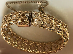 Vtg 1950 S Winard 12k Gold Filled Braided 75 Wide Bracelet Gorgeous Mcm 31gr