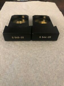 Lot Of 2 Leitz Zeiss Microscope Interference Filter Slider 544 20 545 20