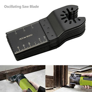 50pack Universal 34mm Oscillating Multi Tool Saw Blades Carbon Steel Cutter Diy