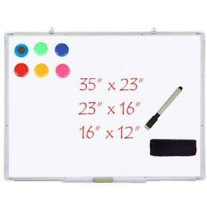 Single Large Medium Small Magnetic Dry Erase Whiteboard Office 3 Sizes Board New