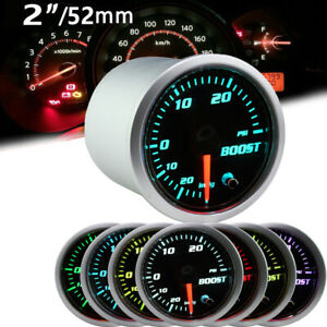 2 52mm 7 Color Led Turbo Boost Psi Pressure Vacuum Gauge Meter 12v Us