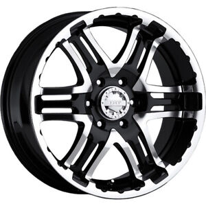 16x8 Gear Alloy 713mb Double Pump Black Wheels Rims 0 5x4 50 Jeep Wrangler 4