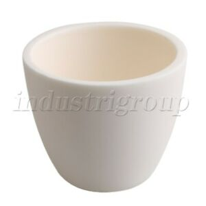 99 Alumina Ceramic Cylinder Crucible 40ml For Muffle Furnaces 1700 c