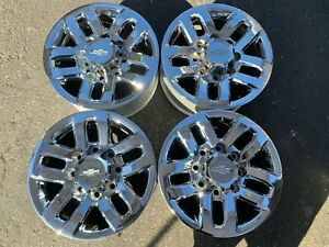 Four 2011 2018 Chevy Silverado Hd2500 Factory 18 Wheels Oem Rim Chrome 5709