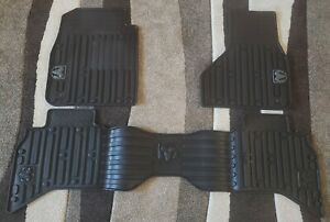 2013 2018 Dodge Ram 1500 D Cab All Weather Floor Mats Black Oem
