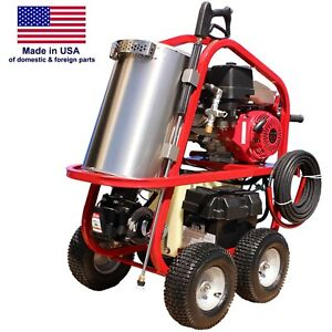 Gas Hot Water Pressure Washer 4 000 Psi 3 5 Gpm 13 Hp Diesel Burner