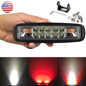 Us Stock 6 Mini Led Bar Signal Lamp Warning Daytime Running Lights Red