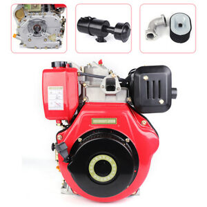 406cc 9hp 4 Stroke Single Cylinder Diesel Engine Air Cooled Recoil 3600rpm Usa