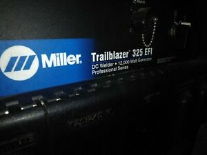 Miller Trailblazer 325 Efi Kohler Welder generator only 100 Hours Of Use