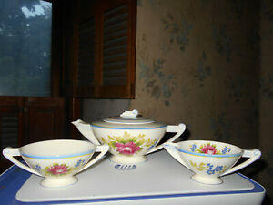Art Deco Tea Set Canonsburg Pottery Co Usa 1920 S 30 S Beautiful Mold
