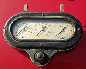 Vintage Ford Model A Gas Guage Cluster Dash