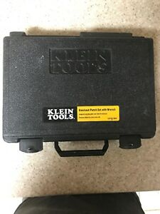 Klein Tools 53732 Sen 1 2 2 Knockout Punch Set W Wrench Carrying Case