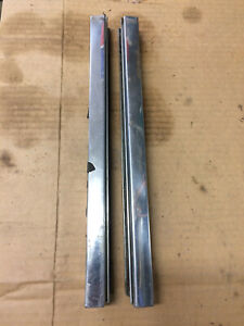 1959 1960 Chevy Wagon Nomad Brookwood Rear Window Channel Pair