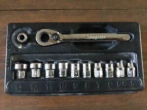 Snap On 112rtm 12 Pc Metric Low Profile Socket Set 12pt And Bit Holder W Case