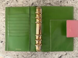 Kate Spade Leather Agenda Planner Personal Size Made In Italy