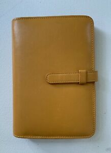 Coach Pocket Size Leather Agenda Planner Made In Italy