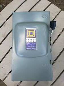 Square D D223n 100 amp 240 Vac Indoor General Duty Fusible Safety Switch 46068