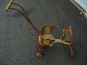 Vintage Metal Baby Stroller Walker 1950s Taylor Tot Made In Usa