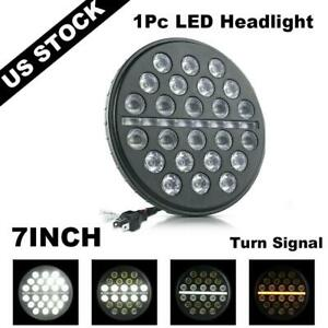 7 Inch Led Headlight Round Projector Turn Signal Lamp For Jeep Wrangler Tj Jk