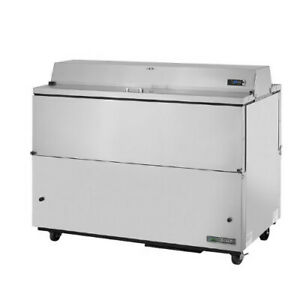 True Tmc 58 s ds ss hc Forced Air Dual Sided Stainless Steel Mobile Milk Cooler