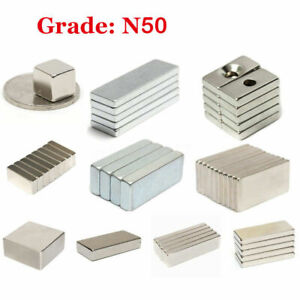 Small N50 Neodymium Block Square Magnet Strong Rare Earth W hole Magnets Daa0820