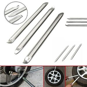 Motorcycle Tire Iron Spoon Set Lever Repair Tool Bike Rim Change Combo Kit 3 Pcs