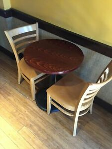 Solid Wood Chair And Circular Table Sets 22 Pieces Total Cafe restaurant