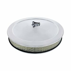 United Pacific S1108 14 Chrome Round Air Cleaner Assembly