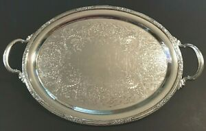 Vtg International Silver Co Camille 16 2 Handled Serving Tray Platter 6080