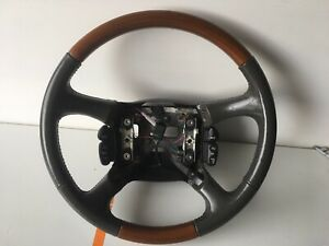 1998 2002 Chevy Silverado Tahoe Suburban Escalade Leather Steering Wheel Oem