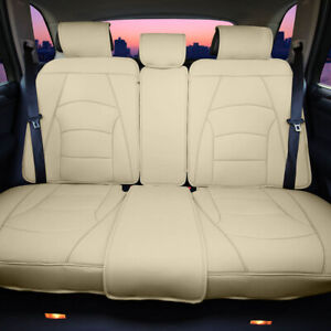 Car Seat Covers Ultra Comfort Leatherette Bench Seat Cushions Rear