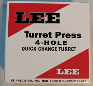 Lee Precision 4 Hole Turret for 4 Hole and Classic Turret Press 90269 - NEW